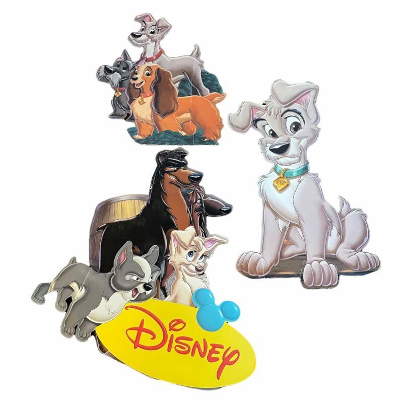 Disney Store Lady Tramp II VHS Standee Disney Cardboard Cut Out Dog Display Rare