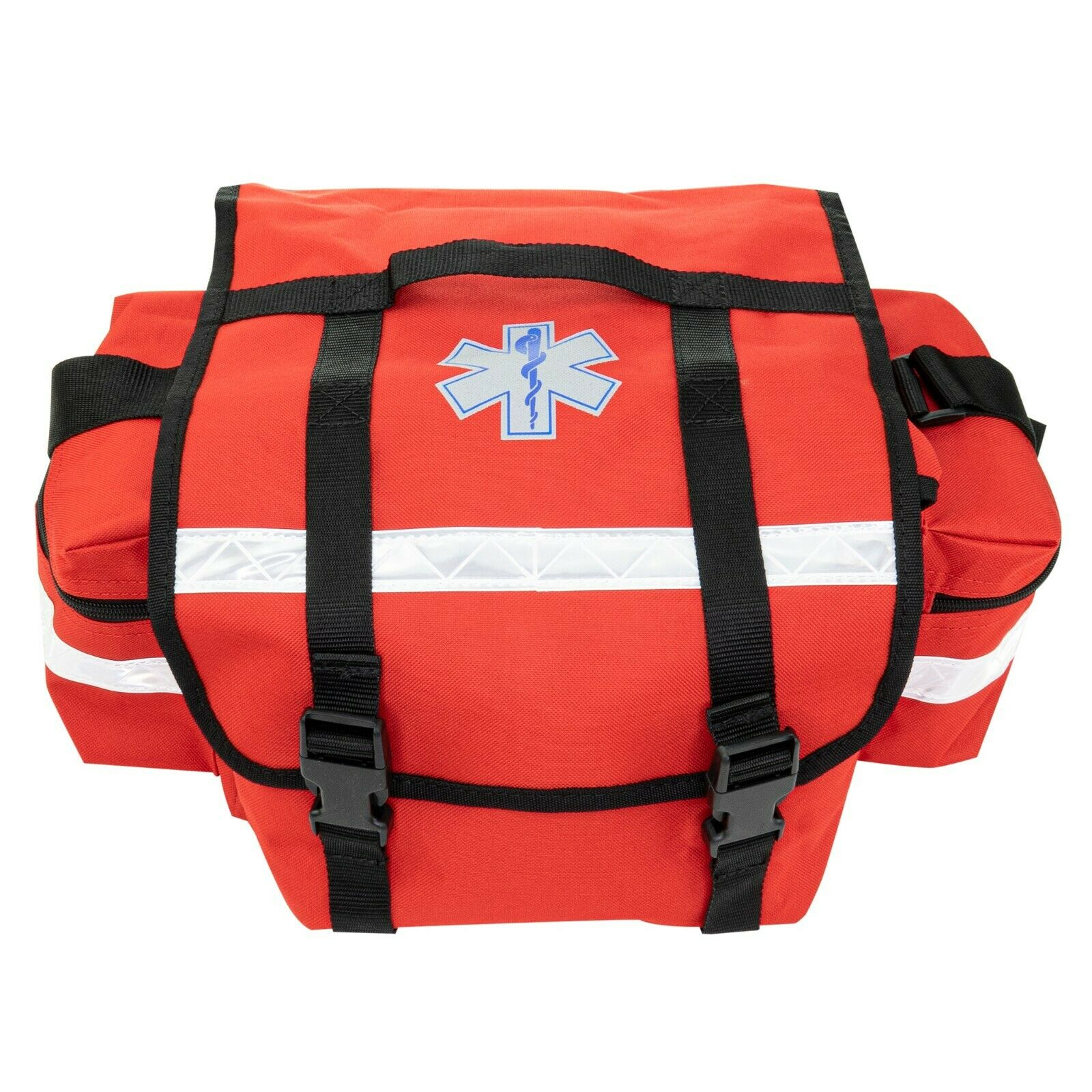 USED LINE2DESIGN FIRST AID BAG - MEDICAL SUPPLIES TRAUMA BAG WITH SHOULDER STRAP RED