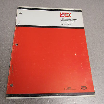 Case Jra Jta Series Moldboard Plow Parts Catalog Manual A878 1968