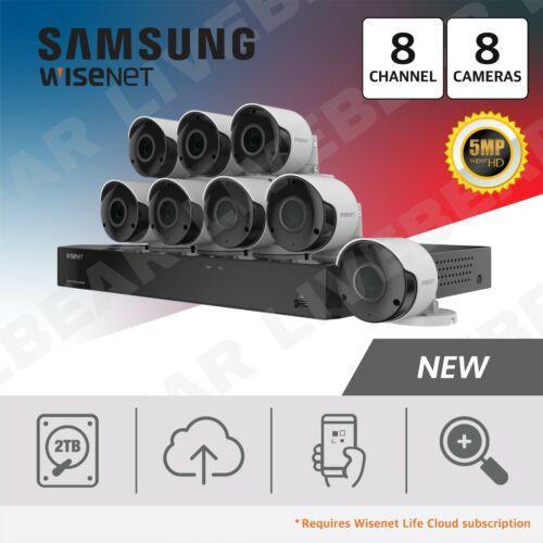 Samsung Wisenet SDH-C84085BF 8 Ch 5 MP 2 TB Super HD System with 8 Cameras