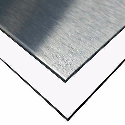 Aluminum Composite Sheet 18 X 24 X 48 Silver Brushed White