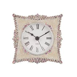 NIKKY HOME Crystal Elegant Small Quartz Analog Table Clock with... Free Shipping