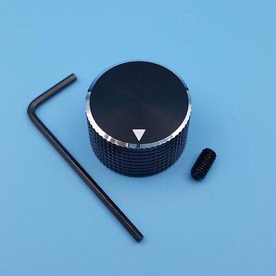 (Black 25 x 15.5mm Aluminum 6mm Dia Rotary Control Potentiometer Cap Knob )