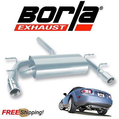 Miata Performance Exhaust - BORLA S-Type Cat-Back Performance Exhaust Kit For 06-15 Mazda Miata MX-5 2.0L