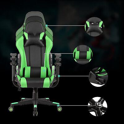 Rocker High Back Office Gaming Chair Racing Seats Computer Chair Executive Green