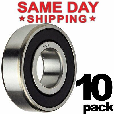608-2rs Ball Bearing 8x22x7 Two Rubber Sealed Chrome Skateboard 608rs 10 Qty