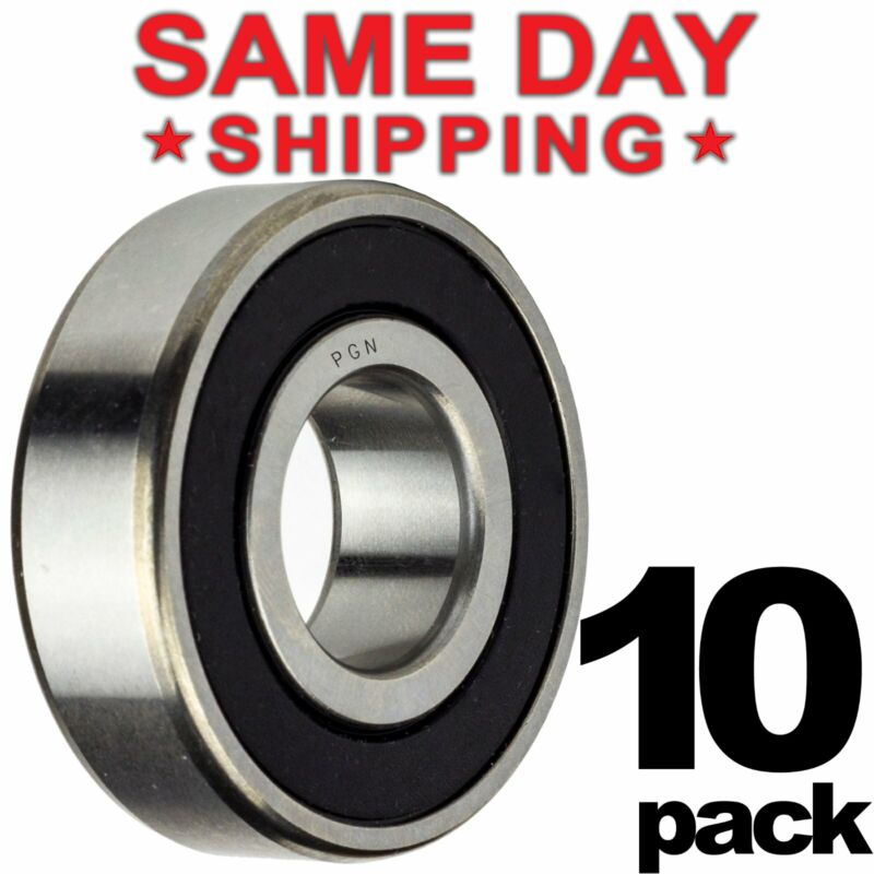 608-2RS Ball Bearing 8x22x7 Two Rubber Sealed Chrome Skateboard 608RS (10 QTY)
