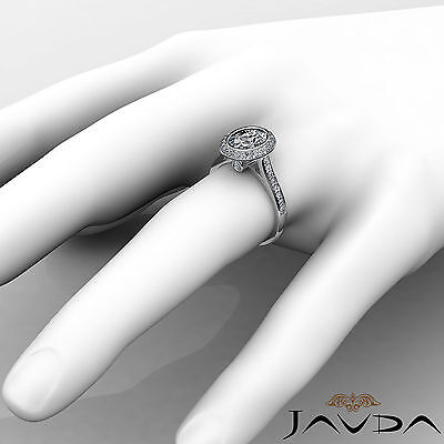 Cathedral Halo Pave Bezel Setting Oval Diamond Engagement Ring GIA H VS2 1.8 Ct 3