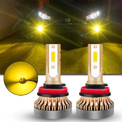 For Honda Civic 2006-2019 LED JDM Golden Yellow H8 H11 Fog Driving Light Bulbs