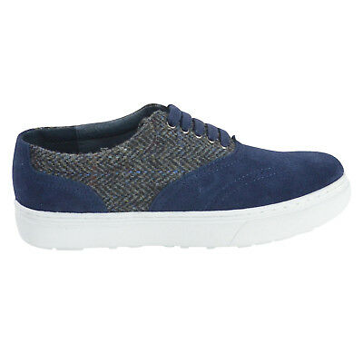 NIB F-Troupe Tweed Suede Lace Up Sneaker Shoes Navy Size 8 for sale  Rancho Cucamonga