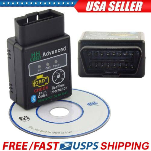 OBD2 ELM327 HH V2.1 Bluetooth Car Scanner Android Torque Auto Diagnostic Tool