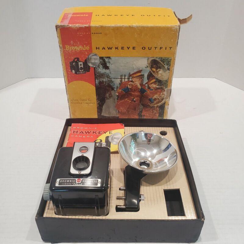 Vintage Kodak Brownie Hawkeye Camera With Original Box and Manual