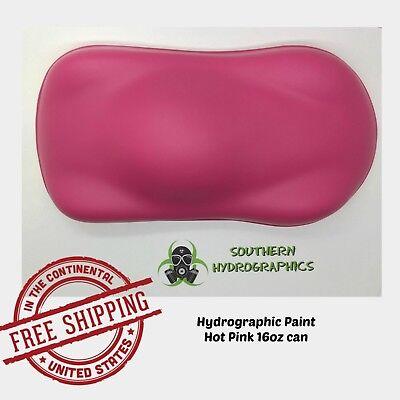 Hydrographic Film Hydro Dip Kit Paint Base Coat 16oz Aerosol Hot Pink