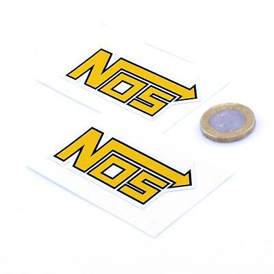 NOS Stickers Classic Car Racing Vinyl Decals 50mm x2 JDM Sticker Street Race