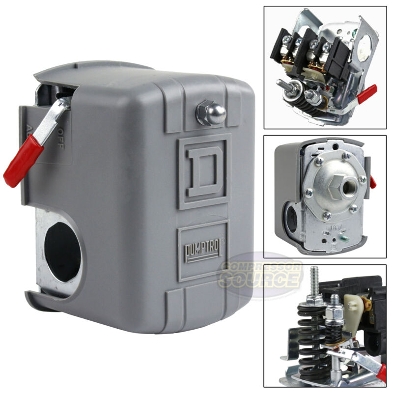 Square D 95-125 PSI Air Compressor Pressure Switch Control Valve 9013FHG12J52M1