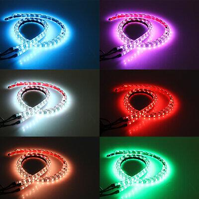 RGB 48 LED Strip Under Car Tube Underglow Underbody System 4Pcs Neon Lights Kit 3