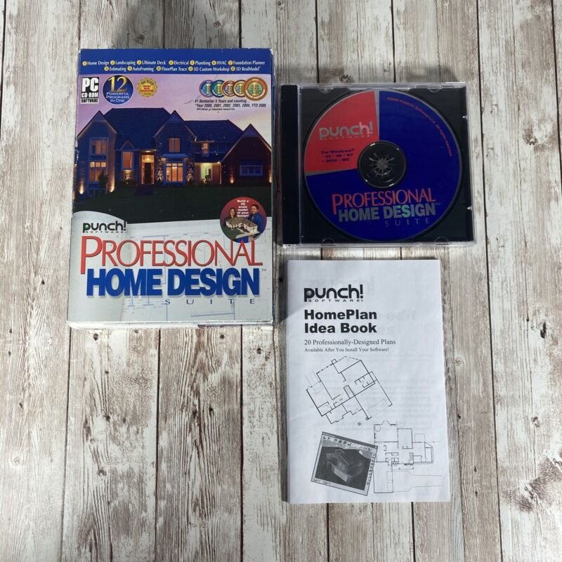 Punch! Professional Home Design Suite Software V. 12 with Home Idea Plan Book