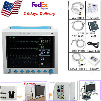 Multi-parameter Portable Vital Signs Patient Monitor Icuccu Machine Cms8000