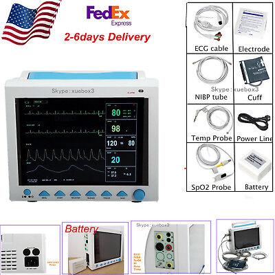 12.1 Vital Sign Multi-parameter Patient Monitorecgnibpspo2prresptemp 8000