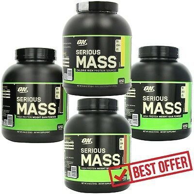 (Optimum Nutrition 6 lb Serious Mass Weight Gainer Whey Protein Creatine Glutamin)