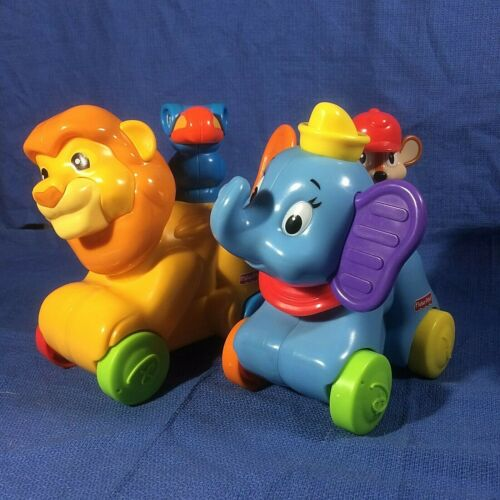 Fisher Price/Rollin Tunes/Dumbo Timothy Q Mouse(WORKS)/ Mufasa & (K2) (NO music)