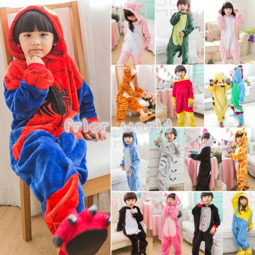 Kids Animal Kigurumi Pajamas Cosplay Onesi1 Sleepwear Costum