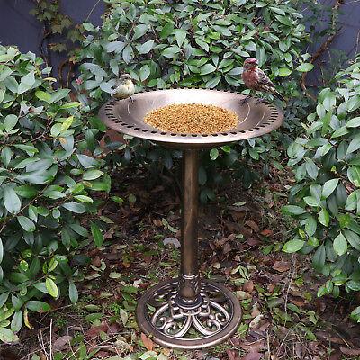 Antique Copper effect bird bath Garden Decor Vintage Yard Art