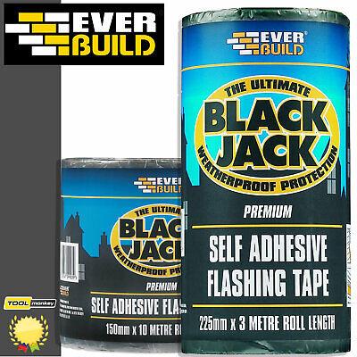 EVERBUILD Black Jack Flashband 10Mtr Roll |Lead & Roof Flashing | Flashing Tape