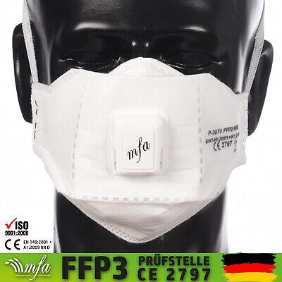 MFA FFP3 Maske Atemschutzmaske mit Ventil Wiederverwendbar Mundschutz Neuware