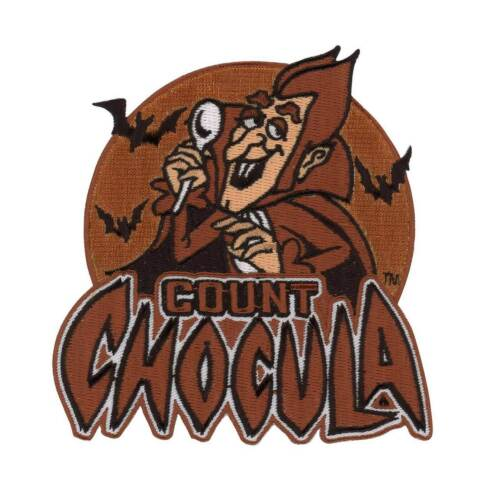 General Mills Count Chocula Cereal Patch Retro Vtg Style Halloween Iron On Patch