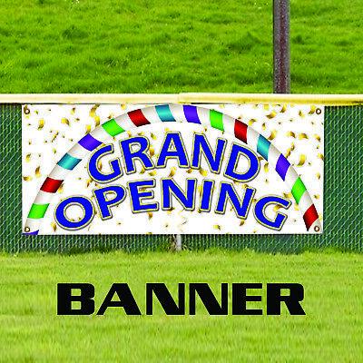 Grand Opening Plastic Novelty Indoor Outdoor Vinyl Banner Sign