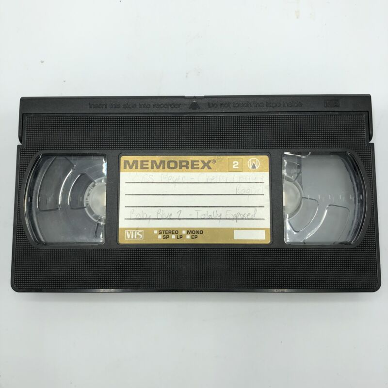 Russ Meyer Pre-Recorded Blank VHS VCR Tape Adult Baby Blue + Commercials City TV
