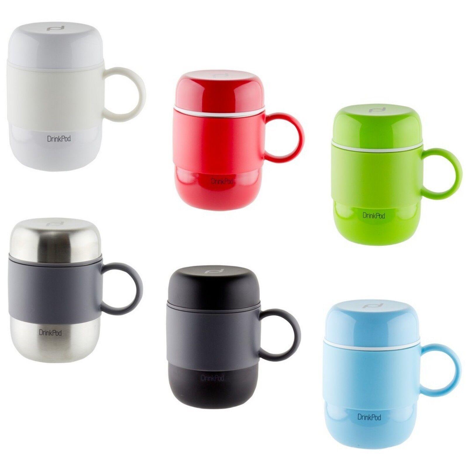 Grunwerg Drink Pod Mug Travel Vacuum Flask Hot/Cold 280ml Va
