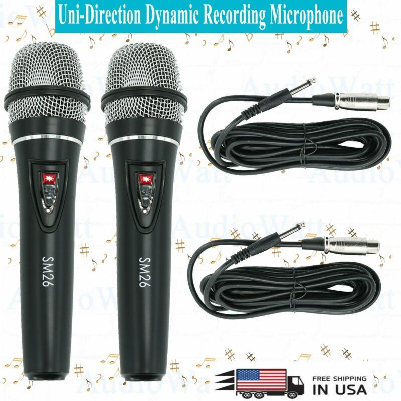 2x SM26 Uni-Direction Dynamic Recording Stage Professional Studio Microphone NEW