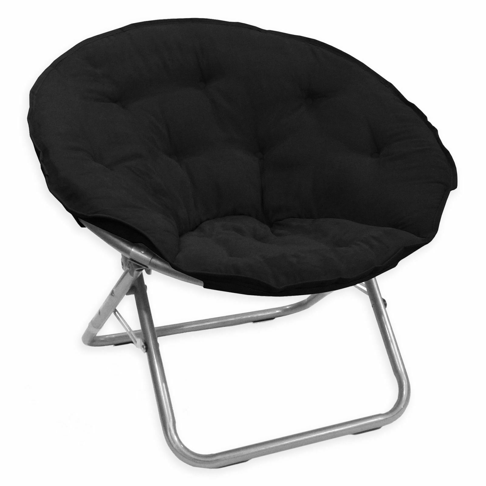 Details About Oversized Moon Chair Seat Stool Saucer Soft Folding Living Room Sofa Papasan