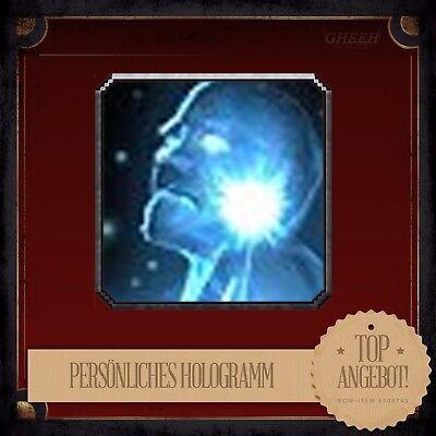 » Persönliches Hologramm | Personal Hologram | WoW Ingame Spielzeug Toy « Persönliche Pc
