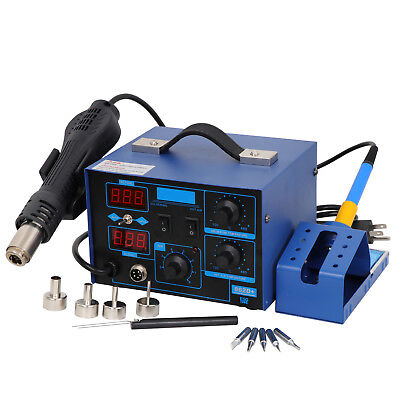 2 In1 Desoldering Station Soldering Station 862d Iron Hot Air Gun 4 Nozzles