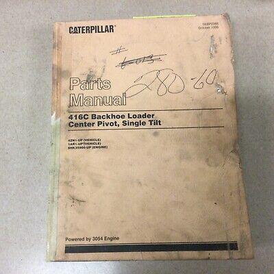 Cat Caterpillar 416c Tractor Backhoe Loader Parts Manual Book Catalog Sn 4zn 1ar