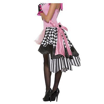 Women's Harlequin Clown French Saloon Marionette Doll Costume Bustle Skirt Black - Black Clown Costume