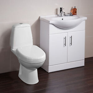 Toilet-Basin-Sink-Vanity-Unit-Bathroom-Cabinet-Furniture-Drawer-Two-Piece-Suite