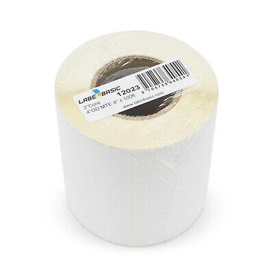 Labels For Primera Lx500c Printer 4 Continuous Label Rolls 100 Ft Matte Blan...