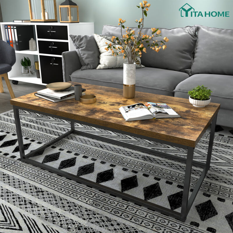 YITAHOME Coffee Table Storage Shelves Modern Furniture Tea Side Living Room Wood