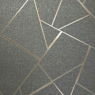 Texture Scroll - Triangle Geometric lines wallpaper gray bronze metallic Textured wall coverings