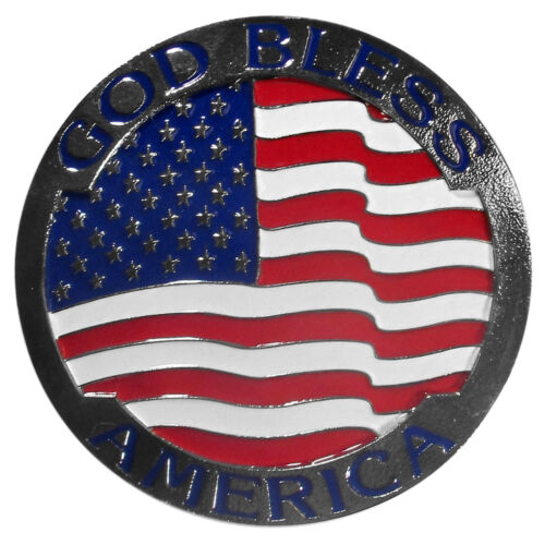 god bless america flag metal trailer hitch cover