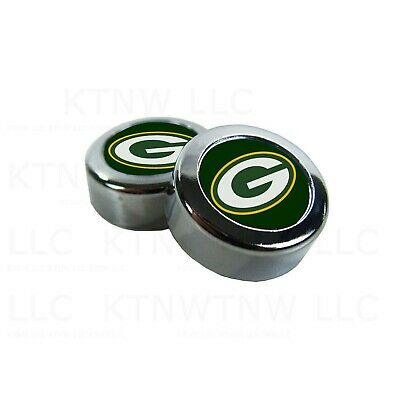 Chrome Football Green Bay Packers License Plate frame screw caps Bolt Cover