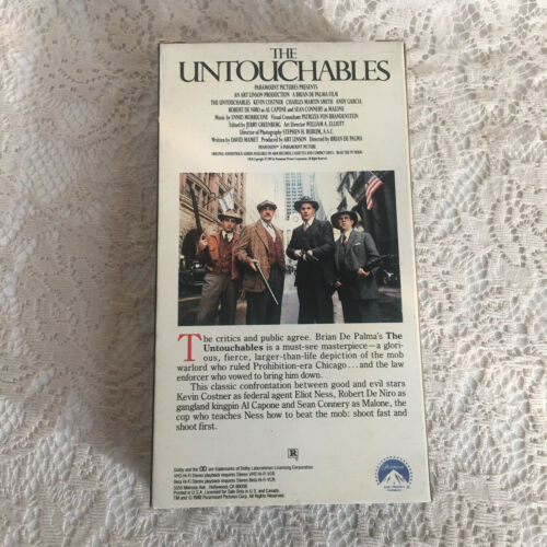The Untouchables VHS 1996 Kevin Costner SEAN Connery Robert De Niro - $8.98