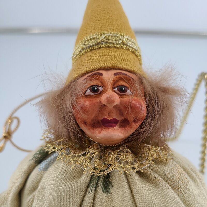 """Hand Painted Ugly Kitchen Witch Troll Doll 6"""" Tall without Hat"""