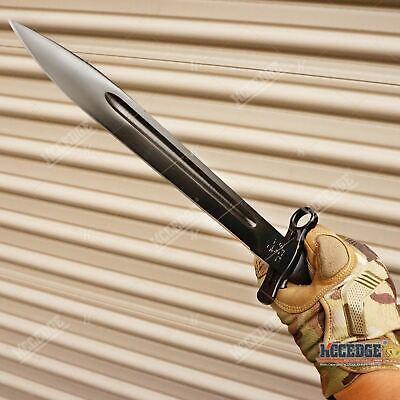 """14.5"""" WWII M1 GARAND STYLE BAYONET KNIFE Military Tactical Hunting Fixed Razor B"""