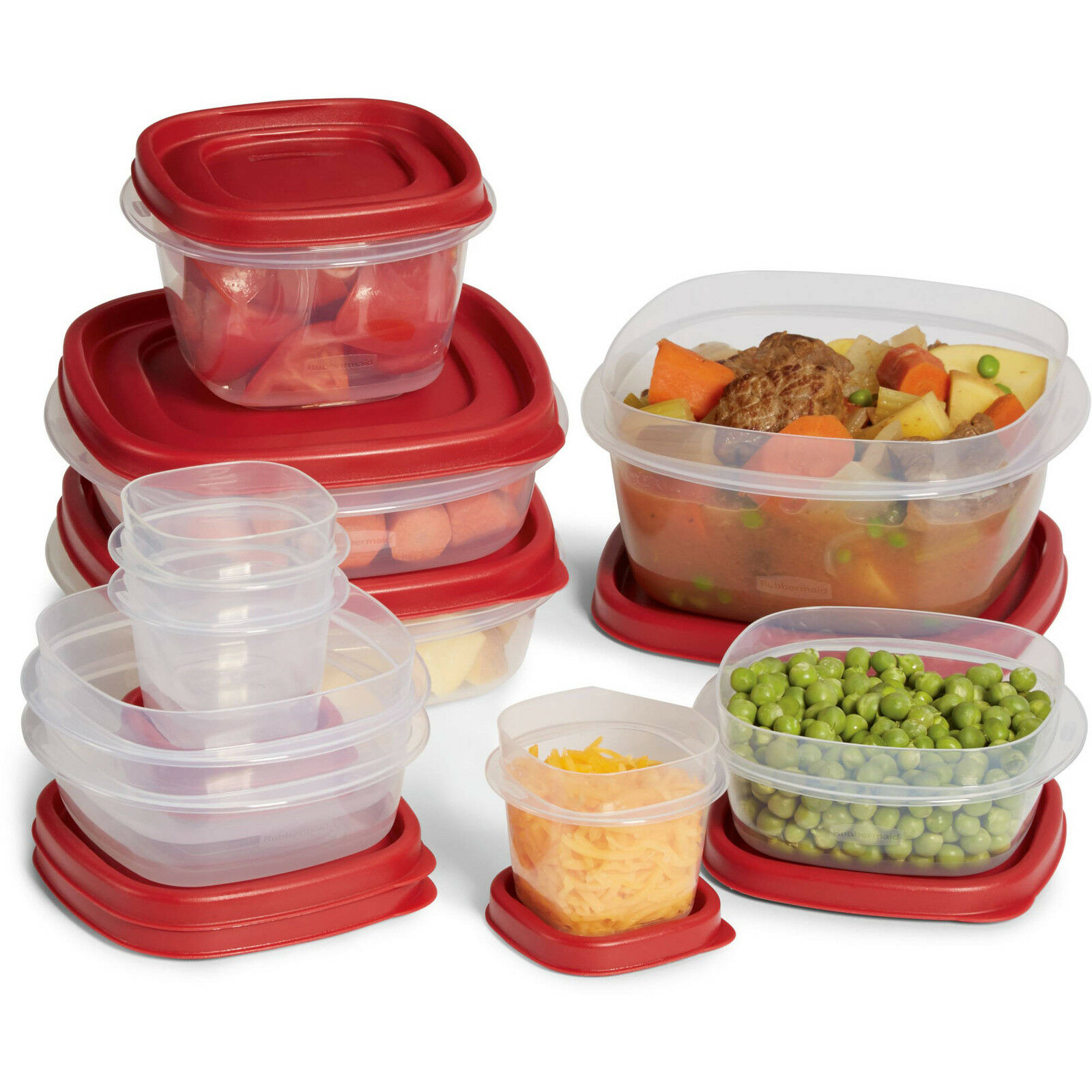 Rubbermaid Easy Find Lids 20 PC set food Storage Container paypal