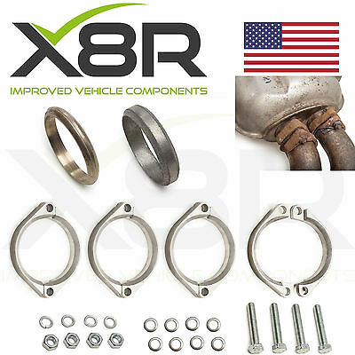BMW E46 M3 Exhaust Flange Muffler Back Box Repair Rusted Corroded Flanges Kit